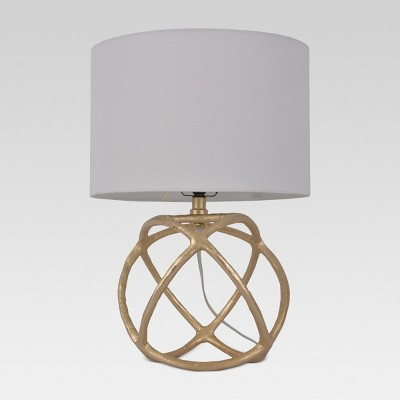 Cast Orb Figural Accent Lamp Gold Includes Energy Efficient Light Bulb - Threshold™
