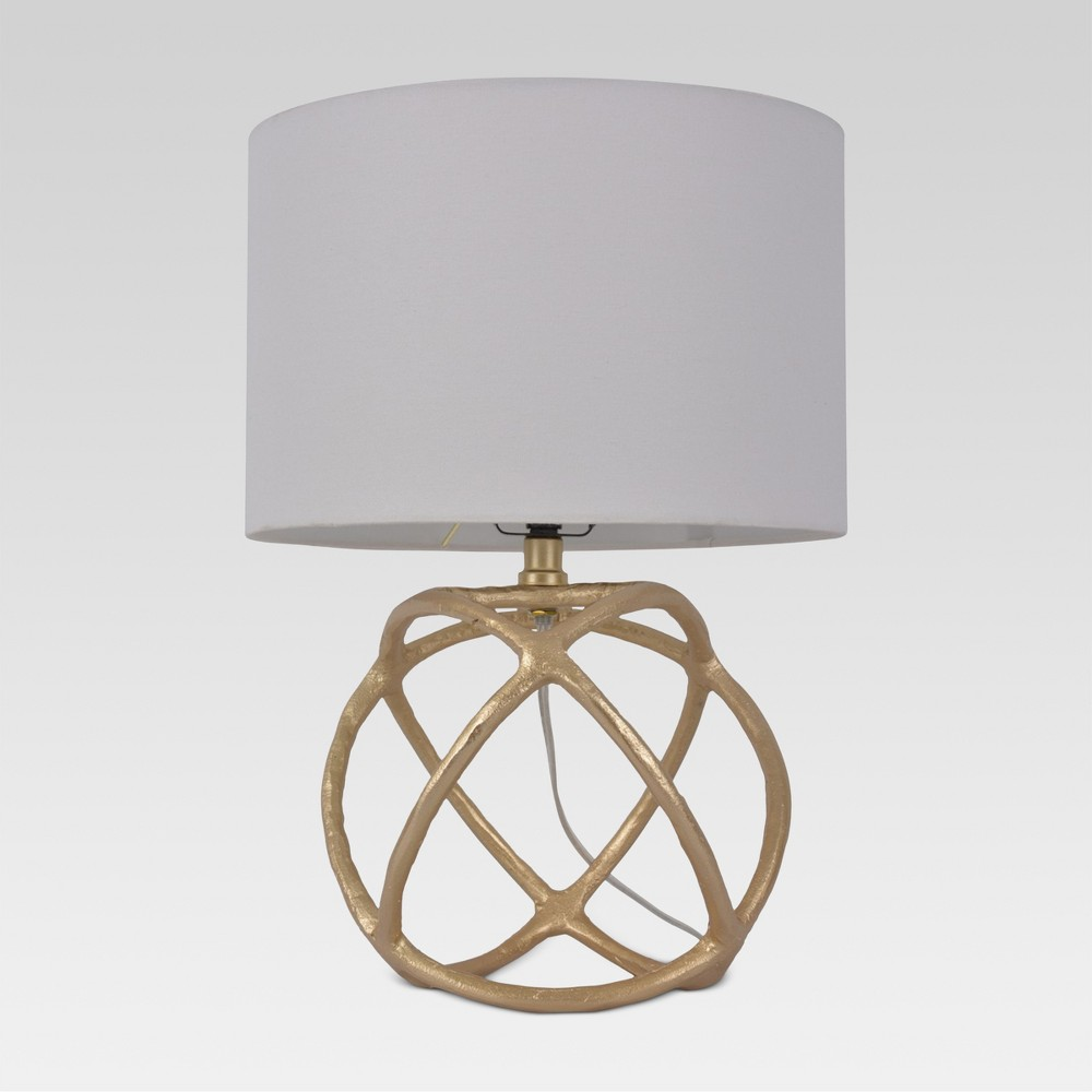 Cast Orb Figural Accent Lamp Gold Includes Energy Efficient Light Bulb - Threshold