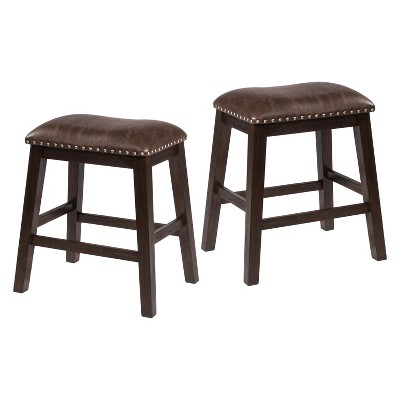 Excellent Set Of 2 Spencer Backless Counter Stool Espresso Brown Hillsdale Furniture Theyellowbook Wood Chair Design Ideas Theyellowbookinfo