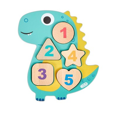Wooden Critters Number Puzzle - Dino