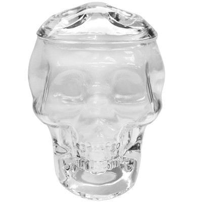 Small Halloween Glass Skull Jar - Hyde and Eek! Boutique™