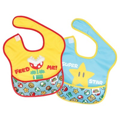 Bumkins Nintendo Superbib 2-Pk Expression Set