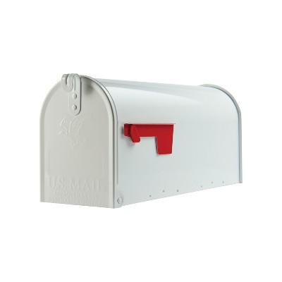 Gibraltar Mailboxes Elite Post Mount Mailbox White