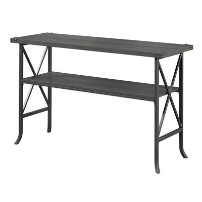 Brookline Console Table Charcoal Gray/Slate - Breighton Home