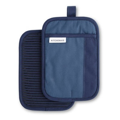 KitchenAid 2pk Cotton Beacon Pot Holders Blue