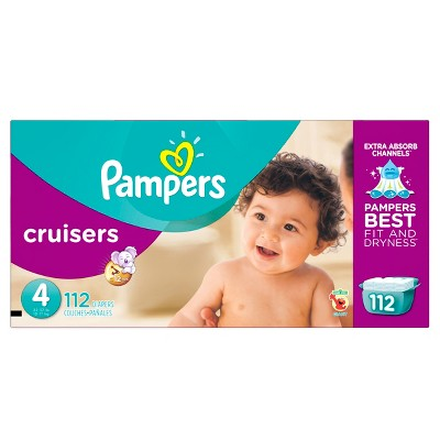 Pampers Cruisers Diapers, Giant Pack - Size 4 (112 ct)