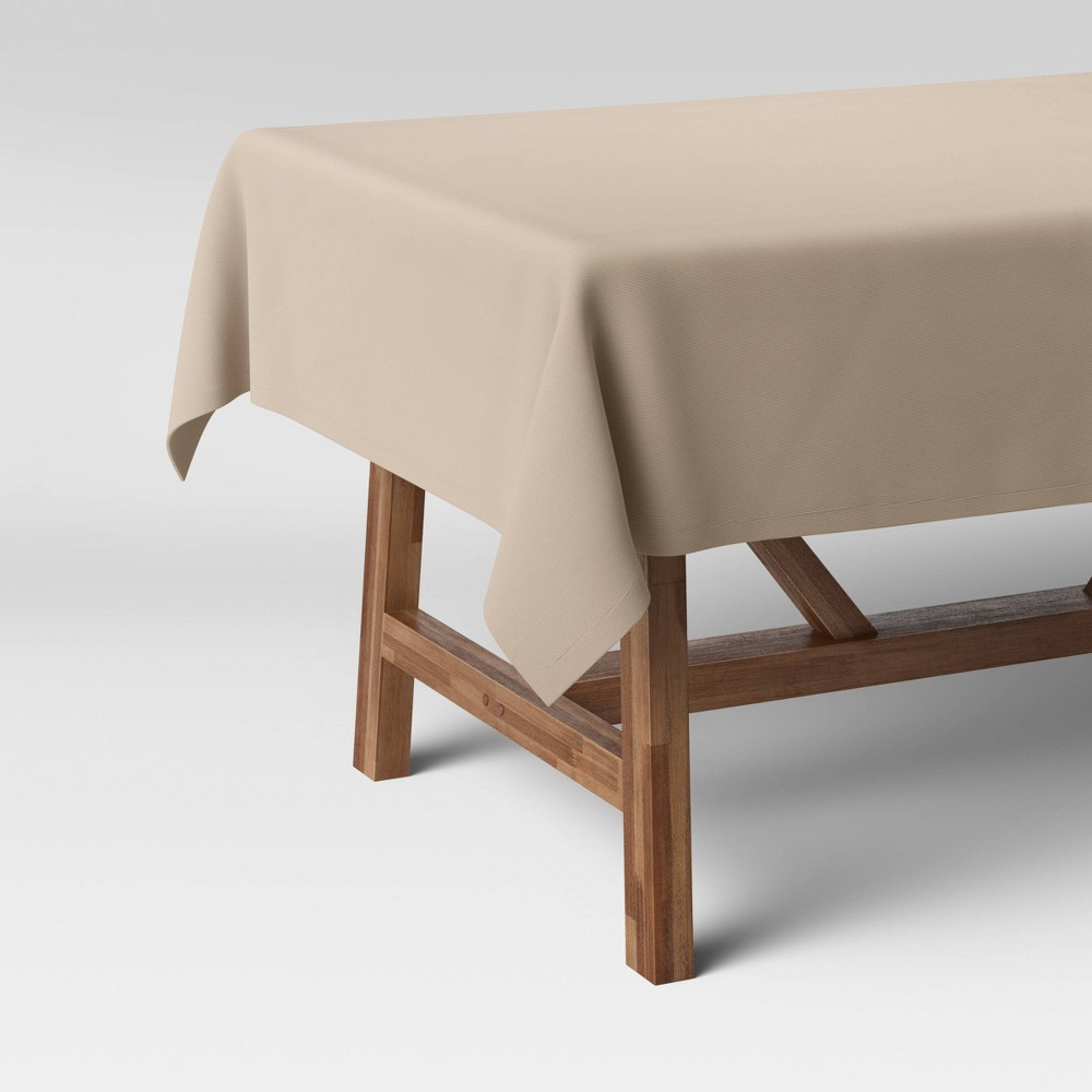 104 34 X 60 34 Cotton Solid Tablecloth Natural Threshold 8482