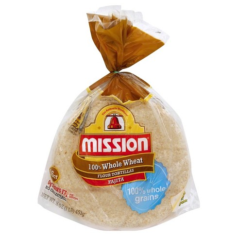 "Mission® 100% Whole Wheat Small Tortillas 6"" - 16ct - image 1 of 1"