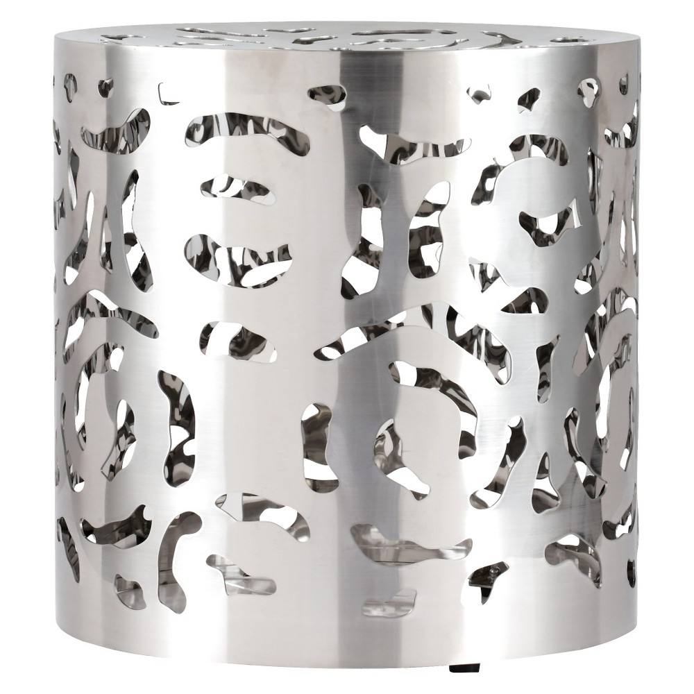 Modern 17 Round Stainless Steel (Silver) Stool - ZM Home
