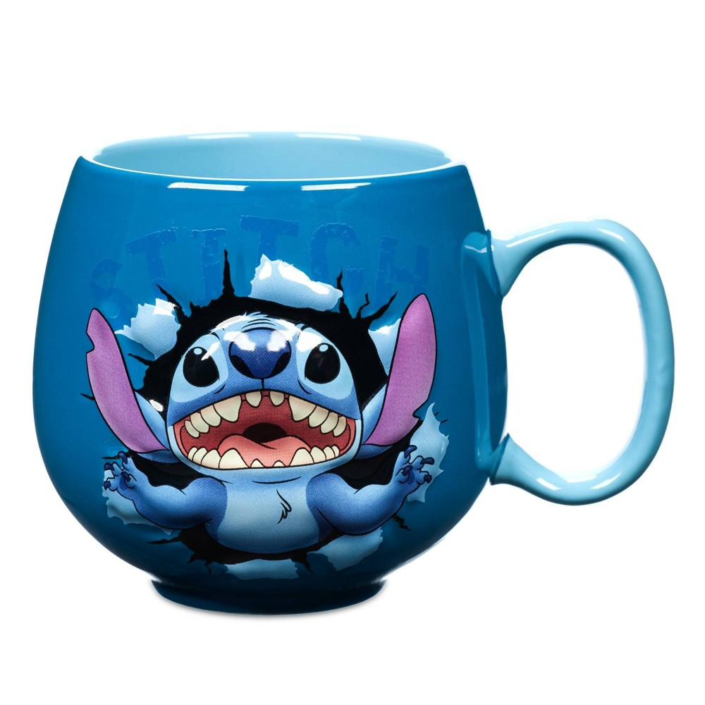 Image of Disney Lilo and Stitch 14oz Ceramic Breaking Through Mug - Disney Store