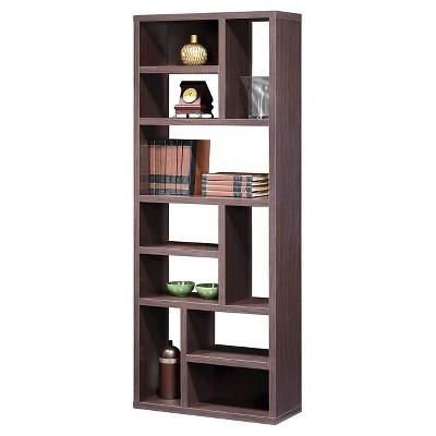 Lifestyles Studio Living Collection 72  Wall Shelving Unit Weathered Dark Gray Finish - Intercon