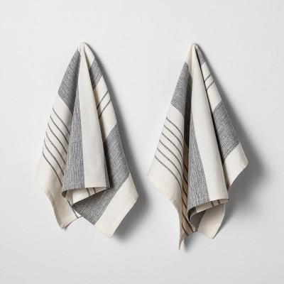 2pk Flour Sack Kitchen Towel Sour Cream/Black - Hearth & Hand™ with Magnolia