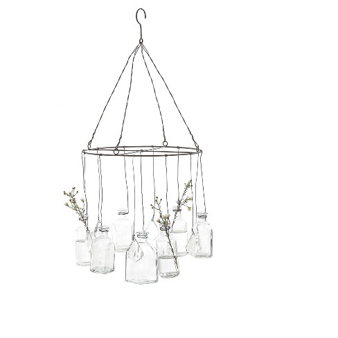 Wire Hanging Glass Vases With Crystals 3r Studios Target