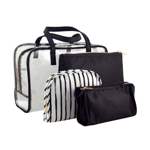 Sonia Kashuk Makeup Organizer Bag Set Black Stripe Target
