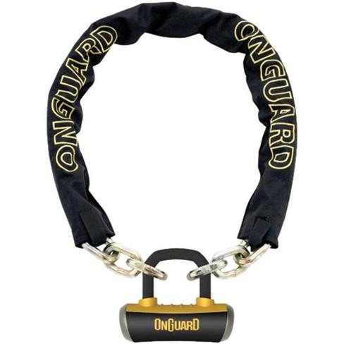 OnGuard Mastiff Chain Lock with Keys 3.7' x 10mm Black/Yellow - image 1 of 1