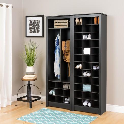 E Saving Shoe Storage Cabinet Black Prepac Target