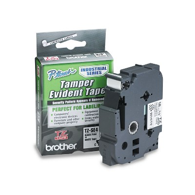 Brother P-Touch TZ Security Tape Cartridge for P-Touch Labelers 3/4w Black on White TZESE4