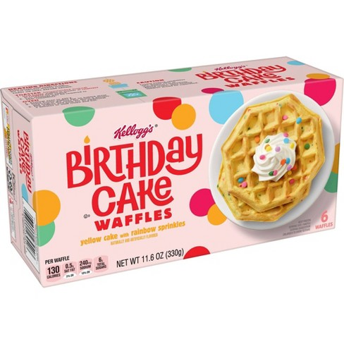 Kellogg's Kids Frozen Birthday Cake Waffles - 11.6oz - image 1 of 4