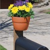"6"" Emsco Resin Post Planter Brown - image 3 of 3"