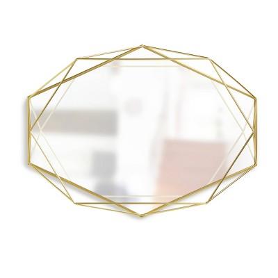 Prisma Decorative Wall Mirror Brass - Umbra