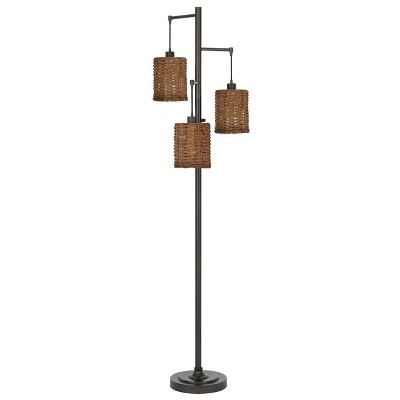 """72"""" Pacific Metal Floor Lamp with Shade (Includes LED Light Bulb) Dark Bronze - Cal Lighting"""
