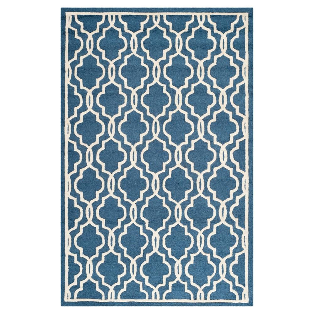 Langley Textured Area Rug - Navy/Ivory (Blue/Ivory) (5'x8') - Safavieh
