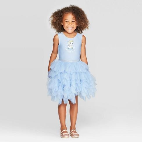 Toddler Girls' Frozen Elsa Tutu Dress - Blue - image 1 of 3