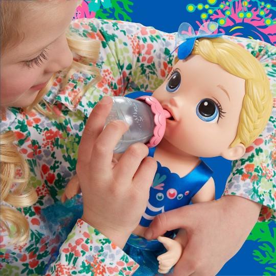 Baby Alive Shimmer 'n Splash Mermaid - Blond Hair image number null