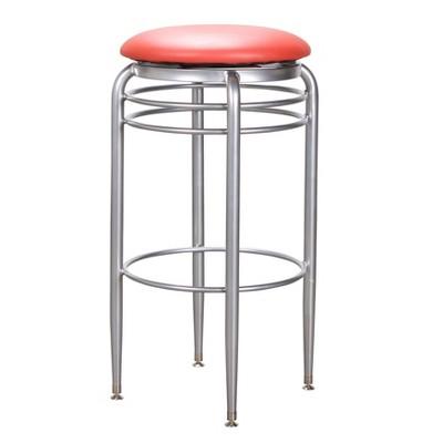 Kaiser Metal Barstool Swivel Red - Linon