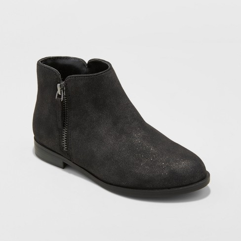 Girls' Jani Ankle Fashion Boots - Cat & Jack™ Black 3 - image 1 of 3