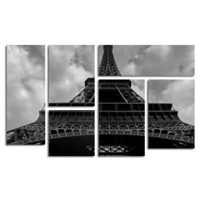6pc Eiffel I by Moises Levy - Trademark Fine Art