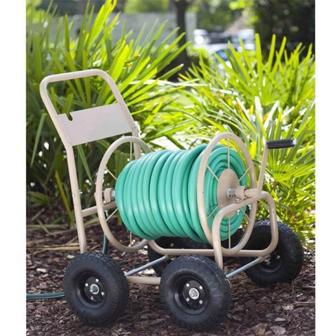 Liberty Garden 870 Industrial 4 Wheel 300 Foot Steel Frame Water Hose Reel Cart - image 1 of 4