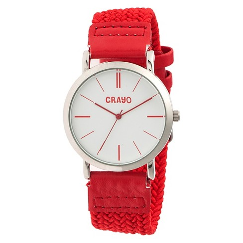 Women's Crayo Symphony Watch with Braided Nylon Strap - image 1 of 3