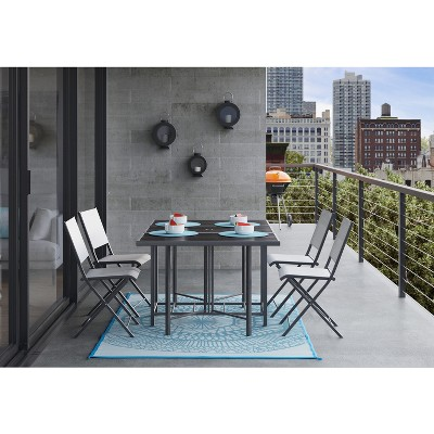 Bryant 5pc Outdoor Stowable Patio Dining Set - Black - Project 62™