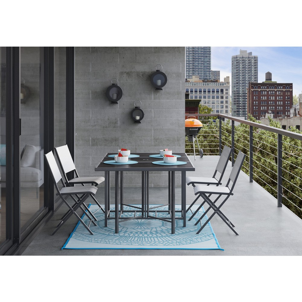 Bryant 5pc Outdoor Stowable Patio Dining Set Black - Project 62