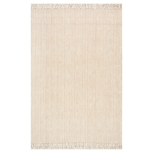 Nuloom Hand Woven Don Jute With Fringe Area Rug Off White 5 X 8 Target