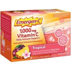 Emergen-C Dietary Supplement Drink Mix - Tropical - 30ct