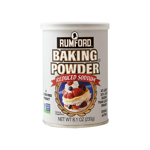 Rumford Reduced Sodium Baking Powder - 8.1oz - image 1 of 4