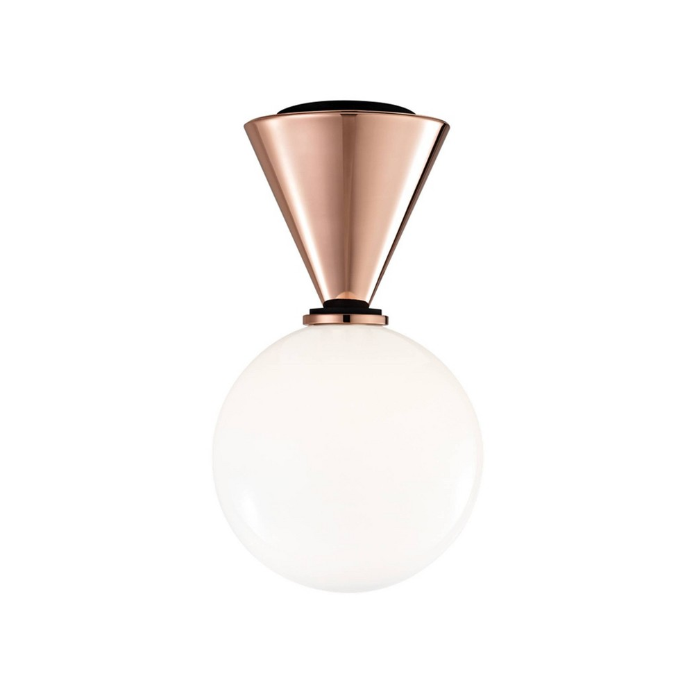 Piper Small LED Flush Mount Chandelier Polished Copper - Mitzi by Hudson Valley Compare
