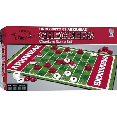 MasterPieces NCAA Arkansas Checkers Board Game