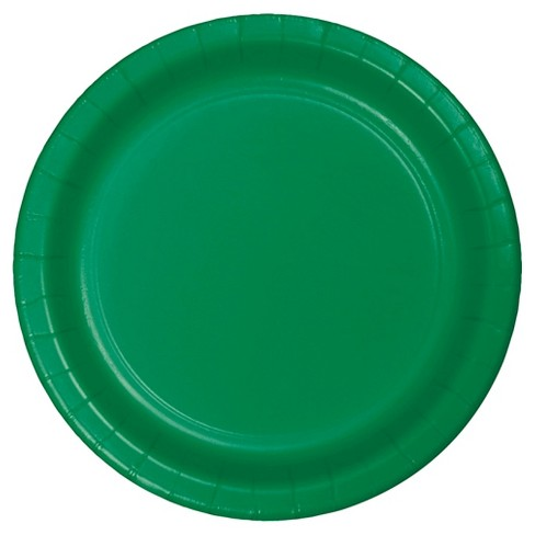 "Emerald Green 7"" Dessert Plates - 24ct - image 1 of 1"