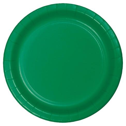 "Emerald Green 7"" Dessert Plates - 24ct - image 1 of 2"