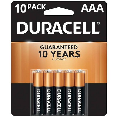 Duracell Coppertop AAA Batteries - 10 Pack Alkaline Battery
