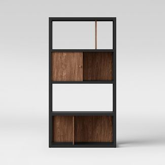 "65.9"" Siebert 4 Shelf Vertical Bookcase Black/Brown - Project 62™"