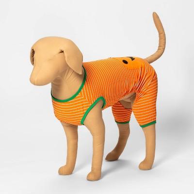 Halloween Pumpkin Dog and Cat Matching Family Pajamas - Orange