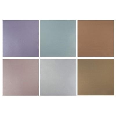 48 Sheet Metallic Scrapbook Paper Pad, Assorted Colors, 12 x 12 inches