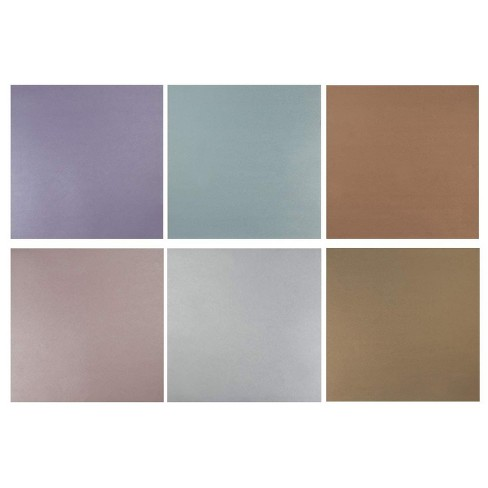48 Sheet Metallic Scrapbook Paper Pad, Assorted Colors, 12 x 12 inches - image 1 of 4
