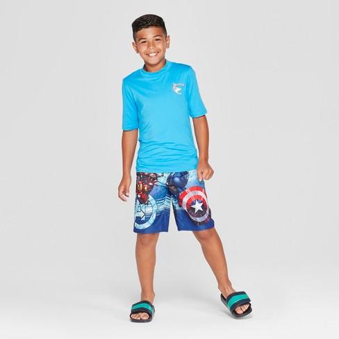 845d2633d4 Boys' Avengers Swim Trunks - Blue : Target