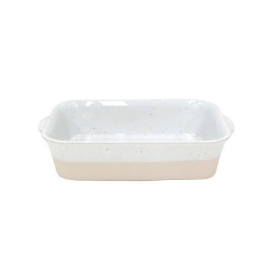 Casafina Fattoria White Stoneware 11 x 7 Inch Rectangular Baker