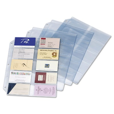 Cardinal Business Card Refill Pages Holds 200 Cards Clear 20 Cards/Sheet 10/Pack 7856000